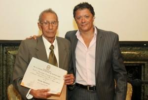 Junto con el Diputado Garayalde, luego de recibir su diploma.